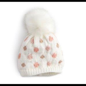 Women's LC Lauren Conrad Polka Dot Beanie Hat